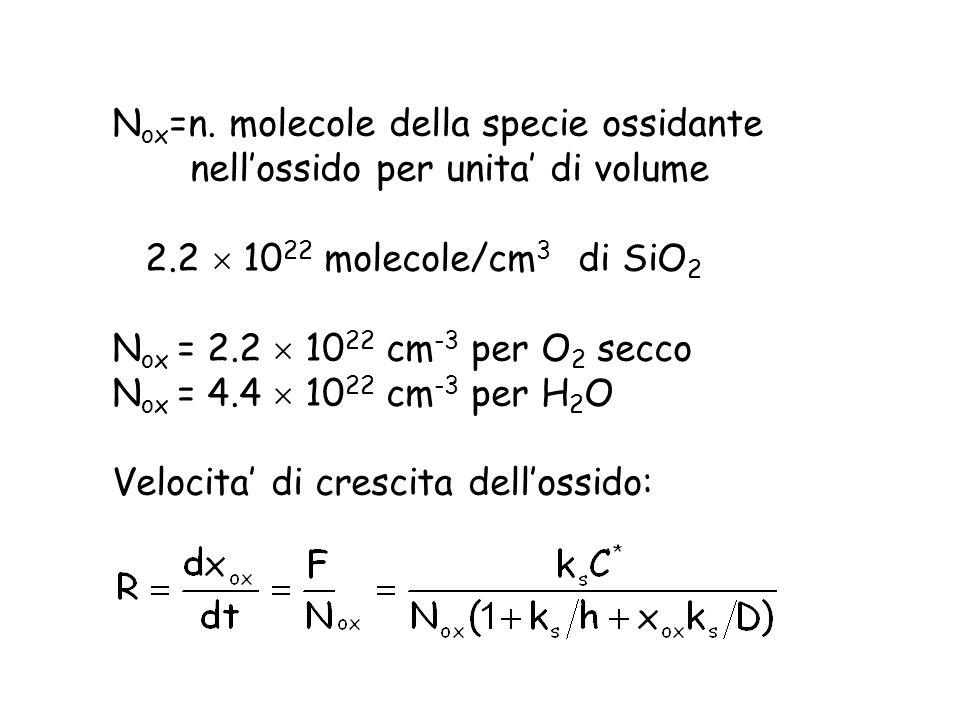 Nox=n. molecole della specie ossidante