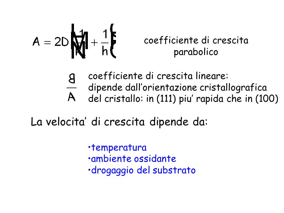 coefficiente di crescita parabolico