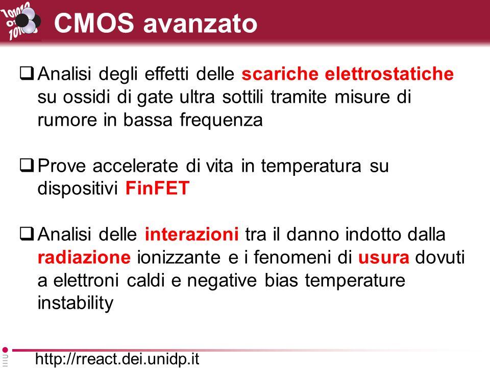 CMOS avanzato Analisi degli effetti delle scariche elettrostatiche su ossidi di gate ultra sottili tramite misure di rumore in bassa frequenza.