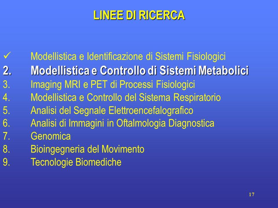 2. Modellistica e Controllo di Sistemi Metabolici