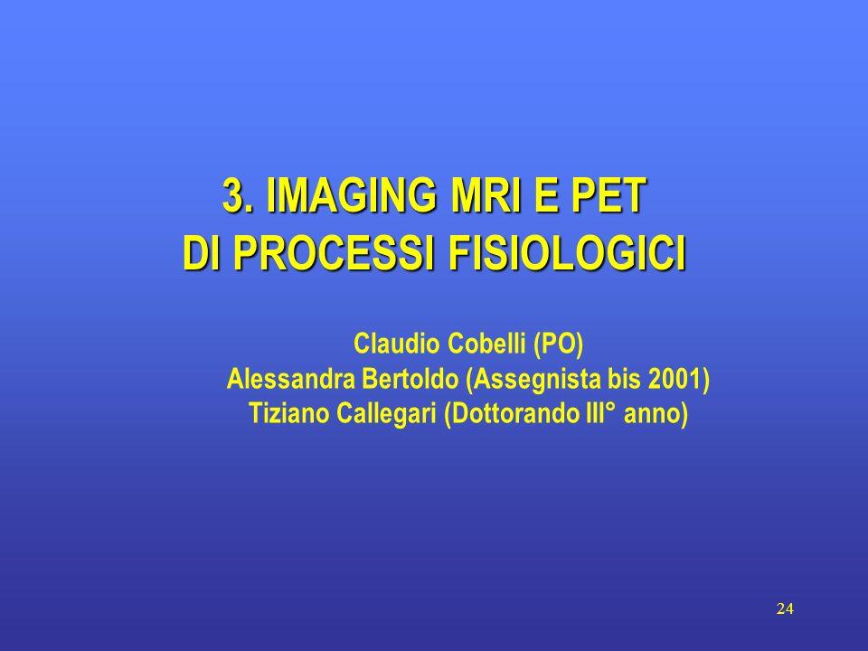 3. IMAGING MRI E PET DI PROCESSI FISIOLOGICI