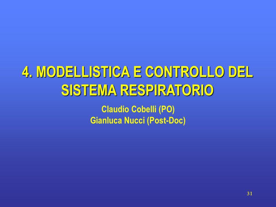 4. MODELLISTICA E CONTROLLO DEL SISTEMA RESPIRATORIO