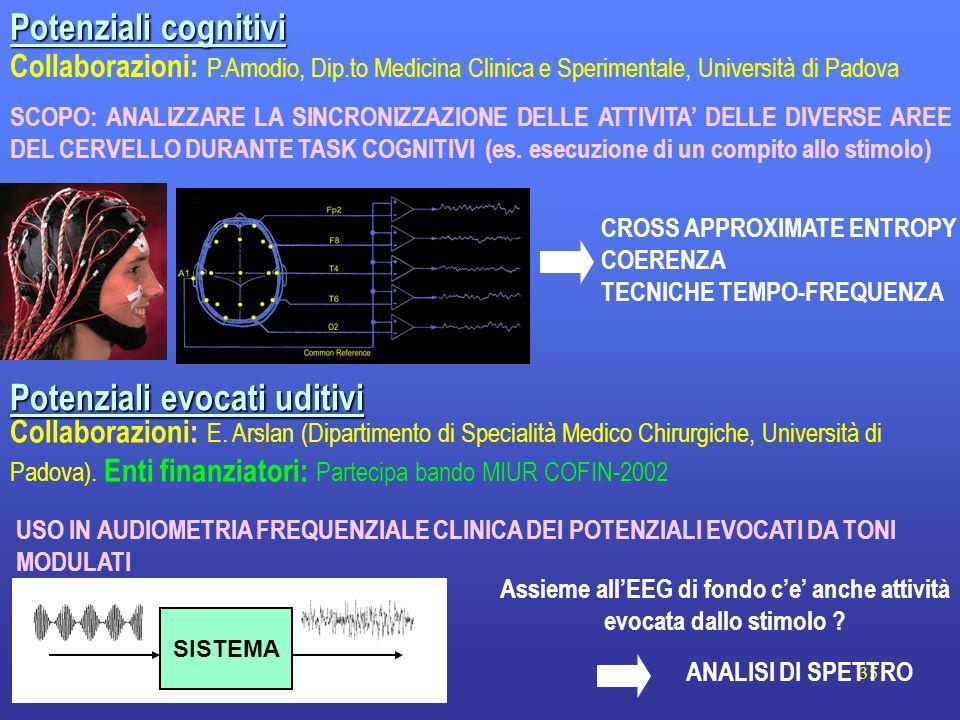 Assieme all'EEG di fondo c'e' anche attività evocata dallo stimolo