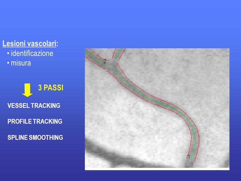 Lesioni vascolari: identificazione misura 3 PASSI VESSEL TRACKING