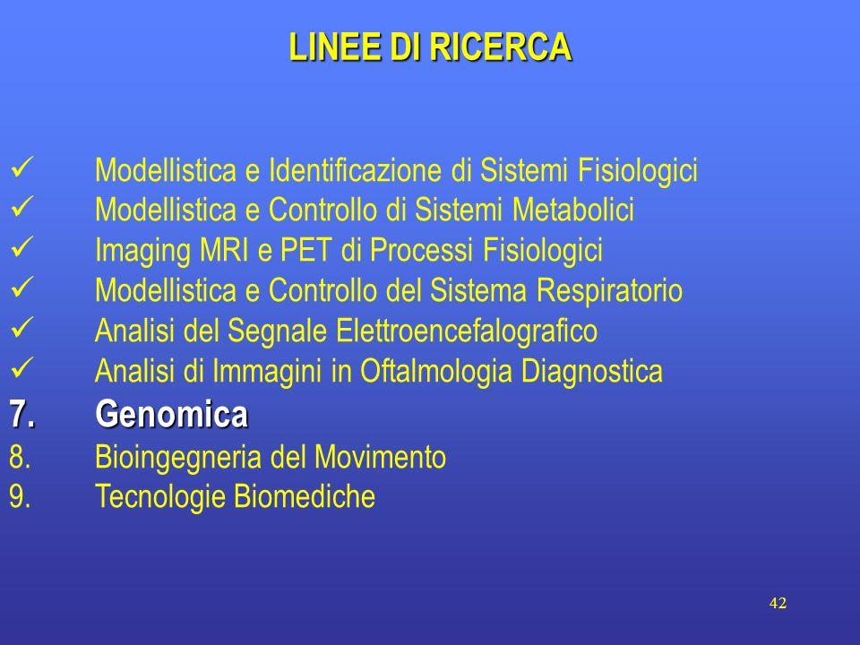 LINEE DI RICERCA 7. Genomica