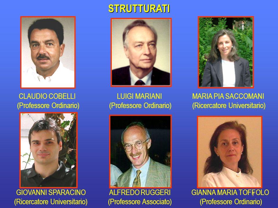 STRUTTURATI CLAUDIO COBELLI (Professore Ordinario) LUIGI MARIANI