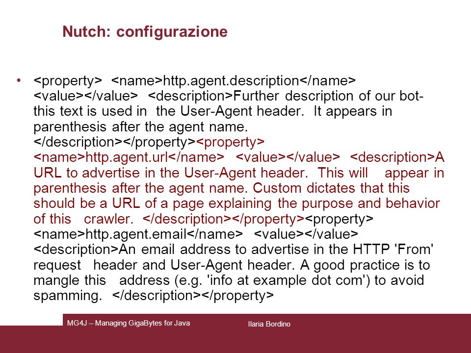 Nutch: configurazione