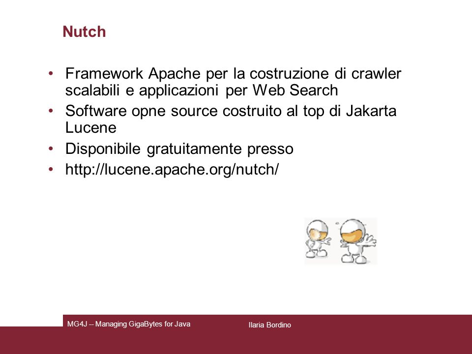 Software opne source costruito al top di Jakarta Lucene
