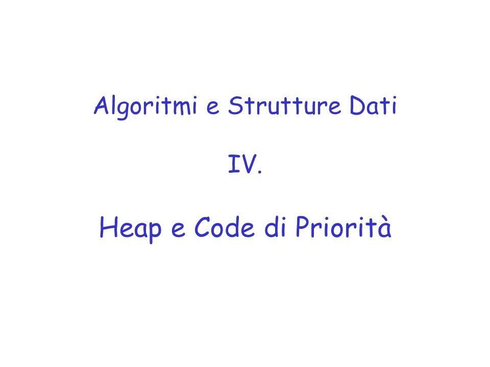 Algoritmi e Strutture Dati IV. Heap e Code di Priorità