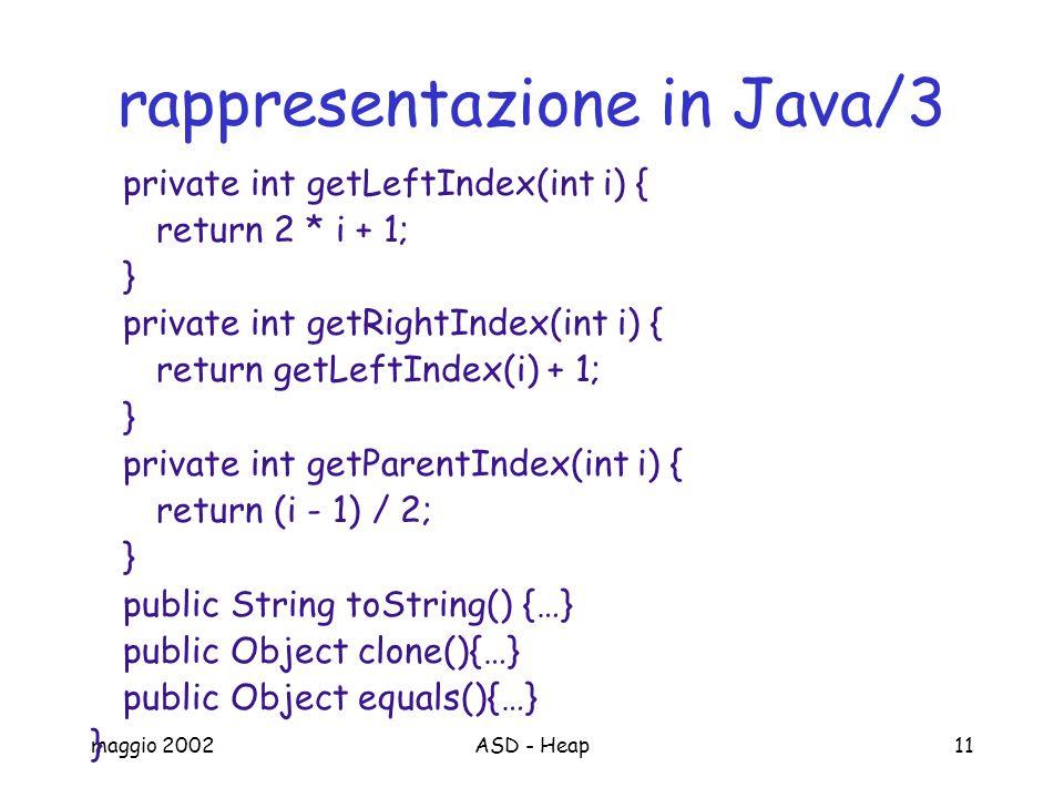 rappresentazione in Java/3