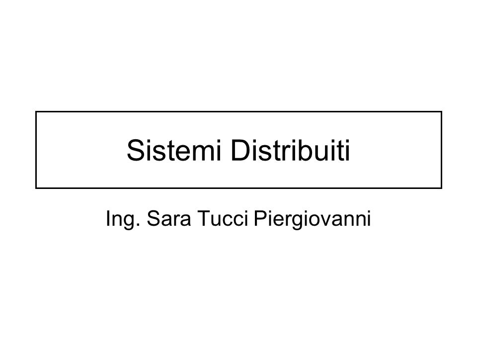 Ing. Sara Tucci Piergiovanni