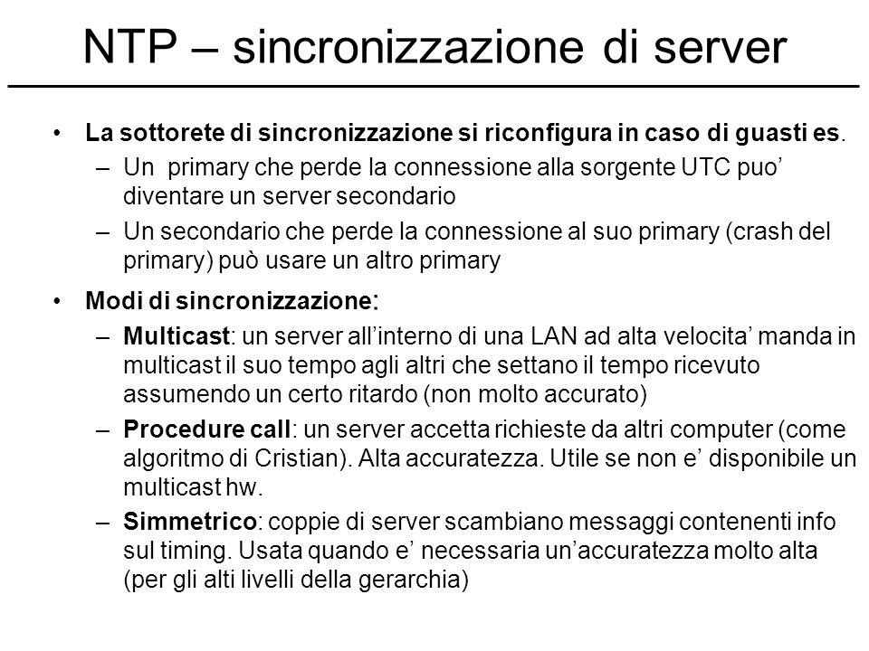 NTP – sincronizzazione di server