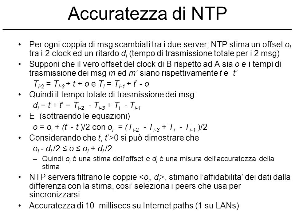 Accuratezza di NTP