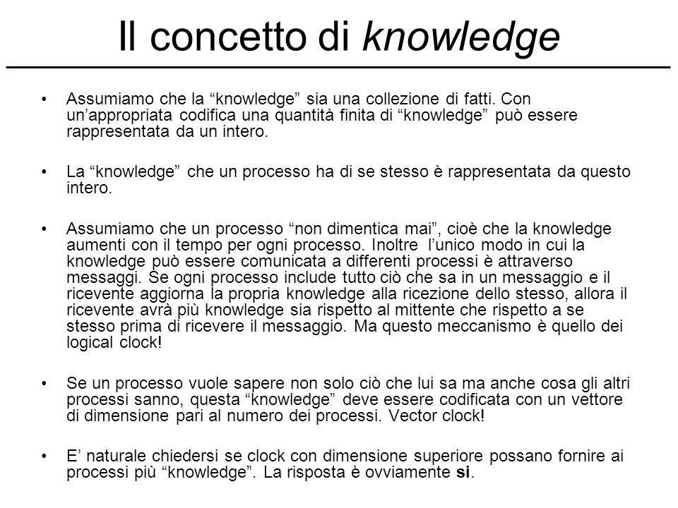 Il concetto di knowledge