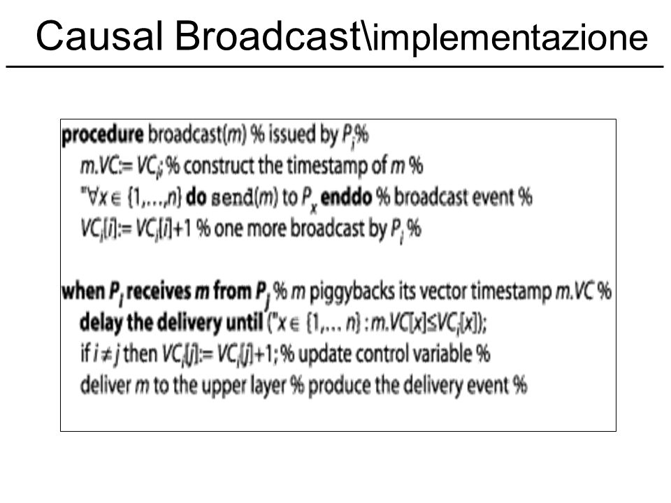 Causal Broadcast\implementazione