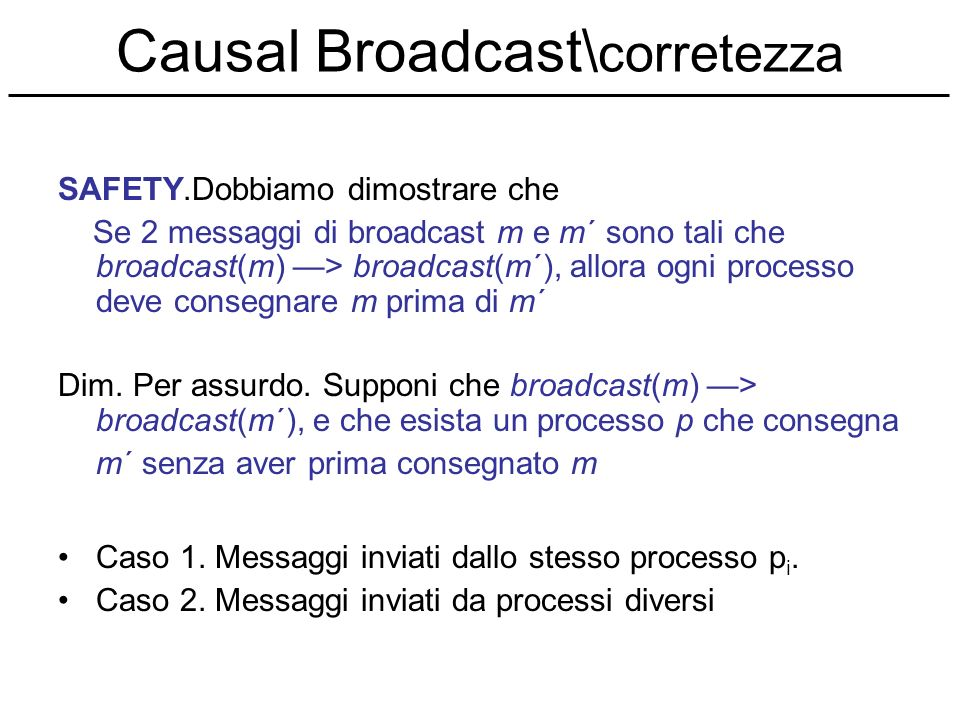 Causal Broadcast\corretezza
