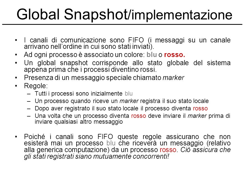 Global Snapshot/implementazione
