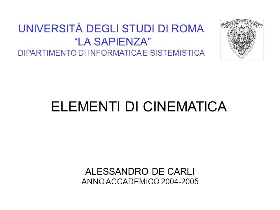 ELEMENTI DI CINEMATICA