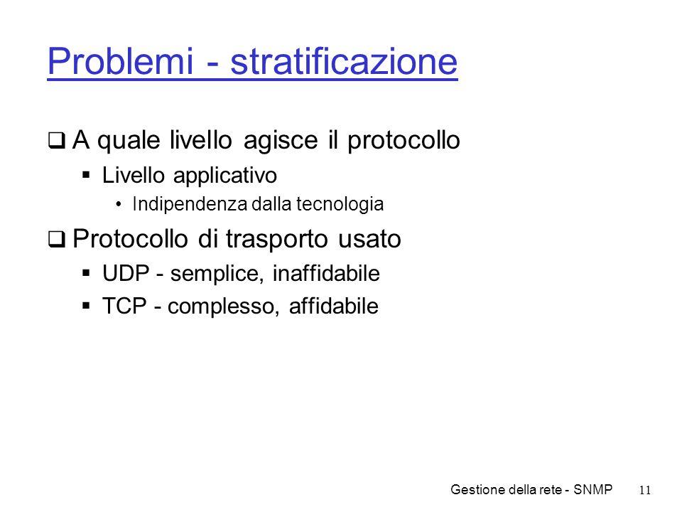 Problemi - stratificazione