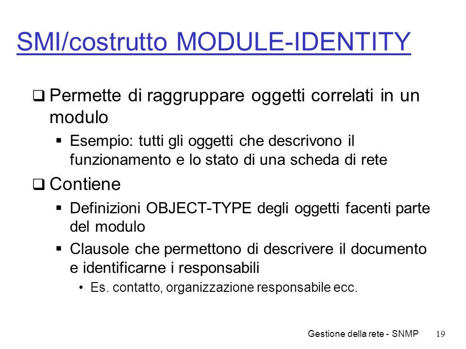 SMI/costrutto MODULE-IDENTITY