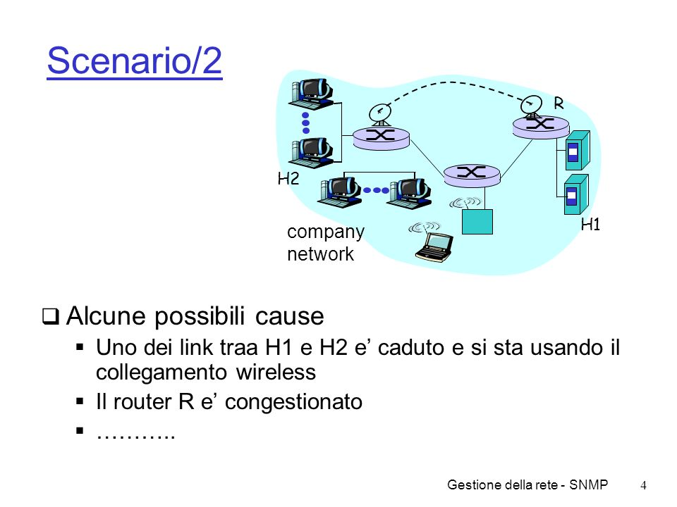 Scenario/2 Alcune possibili cause