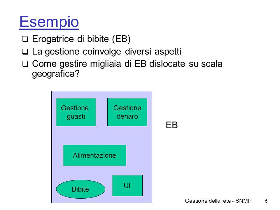 Esempio Erogatrice di bibite (EB)