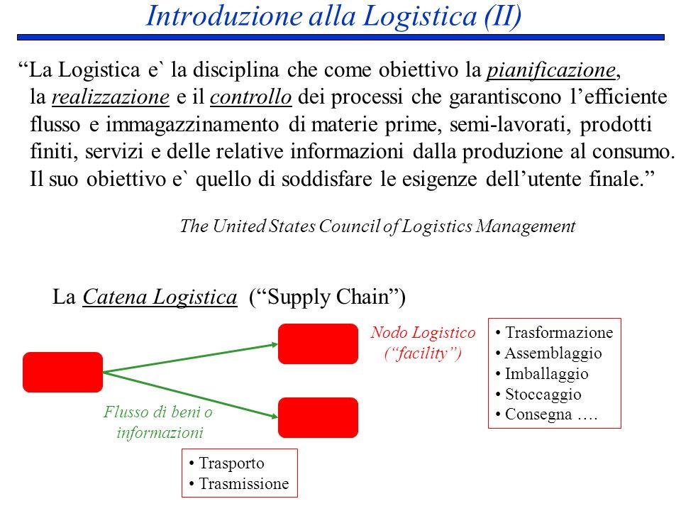 Introduzione alla Logistica (II)