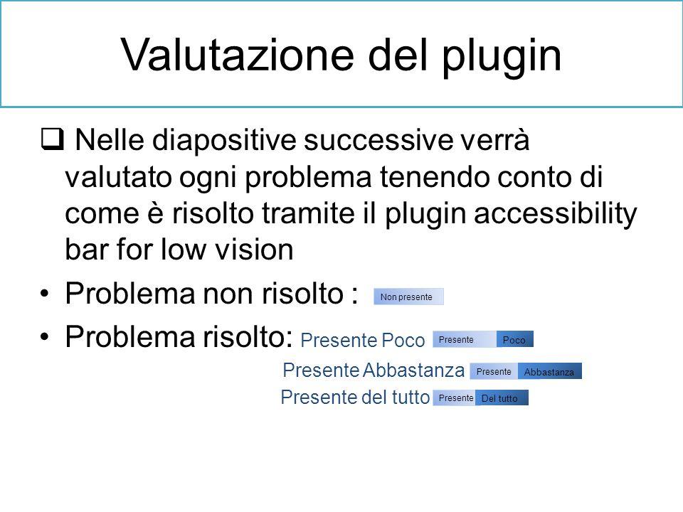 Valutazione del plugin
