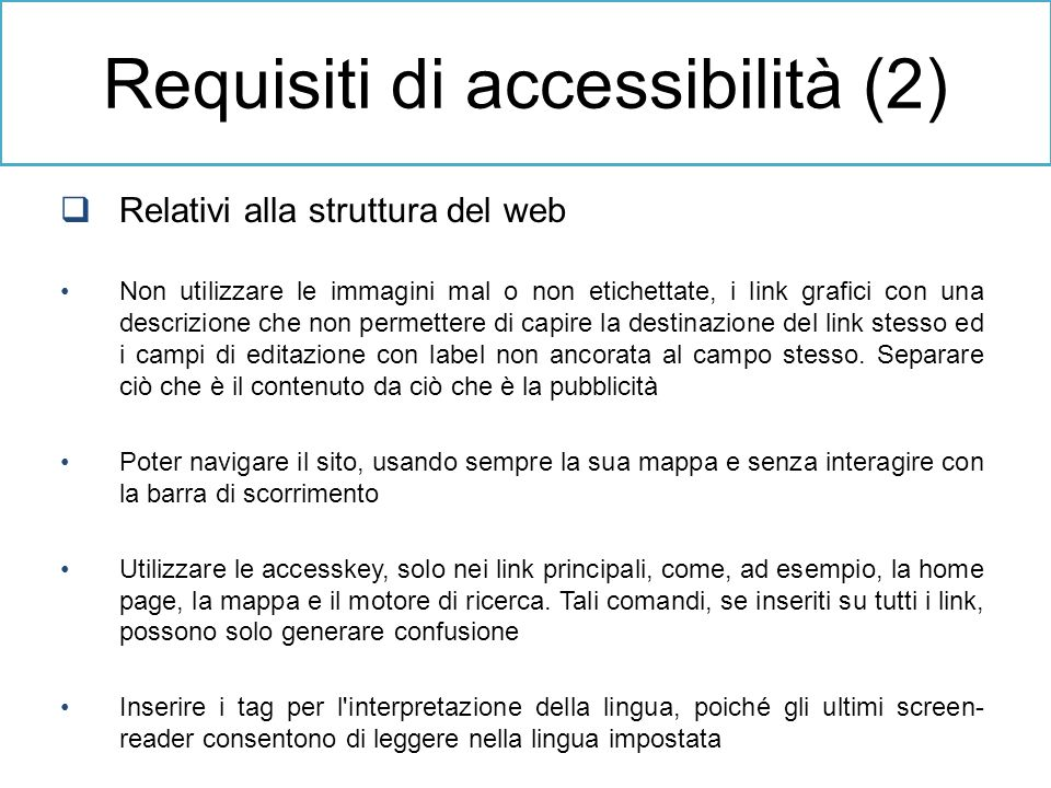 Requisiti di accessibilità (2)