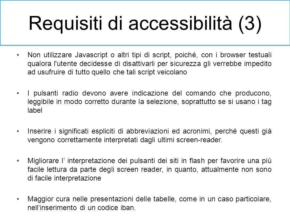 Requisiti di accessibilità (3)