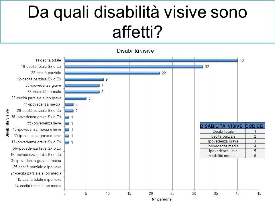 Da quali disabilità visive sono affetti