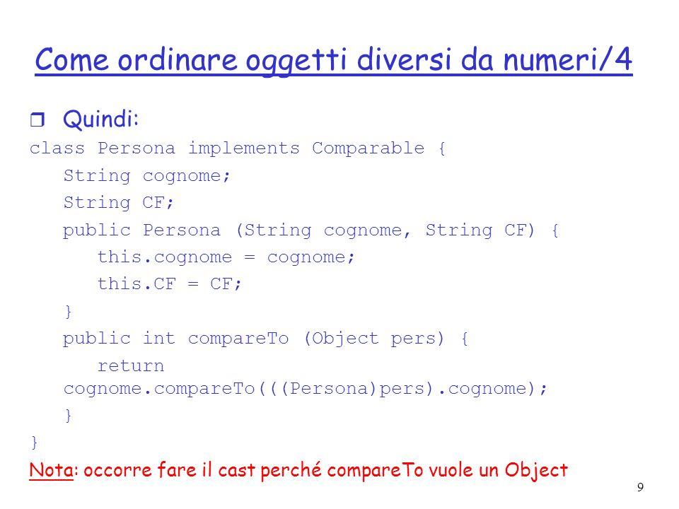 Come ordinare oggetti diversi da numeri/4