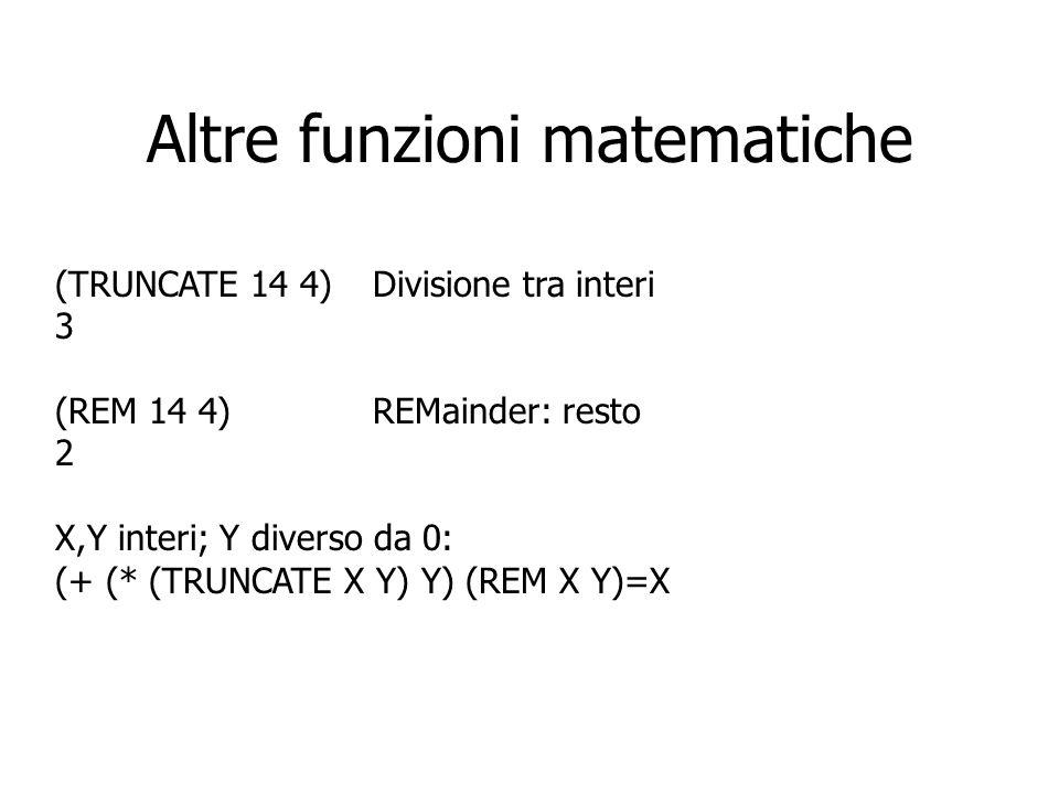 Altre funzioni matematiche