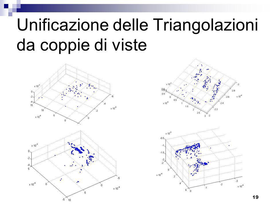 Unificazione delle Triangolazioni da coppie di viste