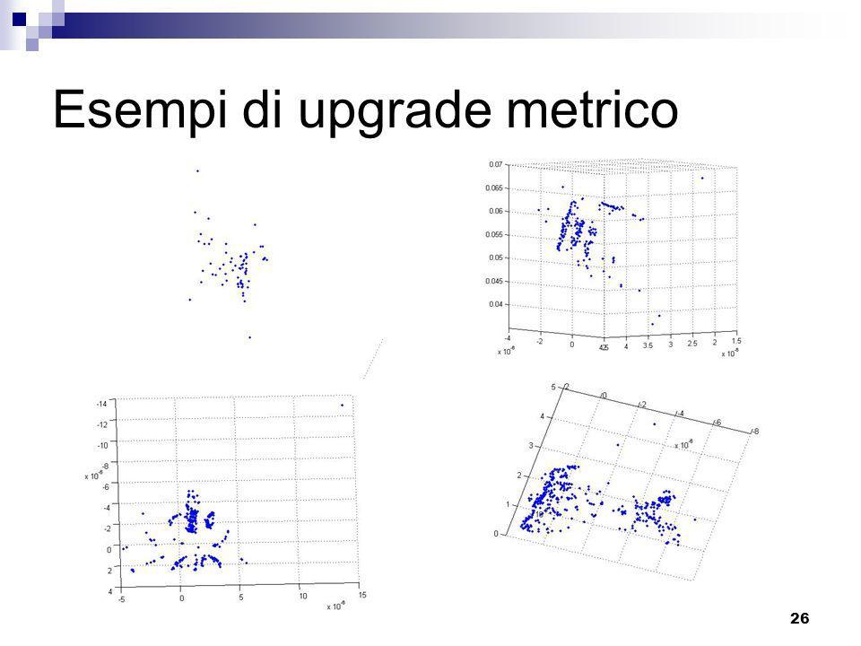Esempi di upgrade metrico