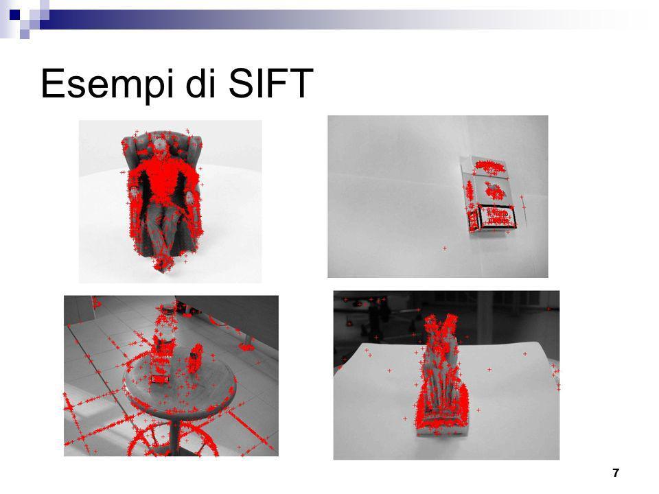Esempi di SIFT