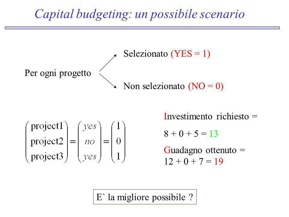 Capital budgeting: un possibile scenario
