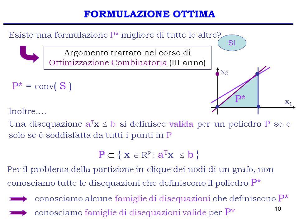 Argomento trattato nel corso di Ottimizzazione Combinatoria (III anno)