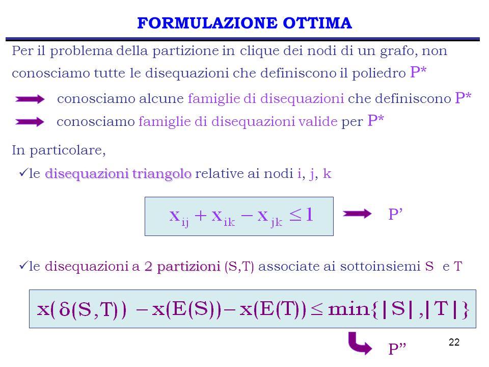 FORMULAZIONE OTTIMA P' P''
