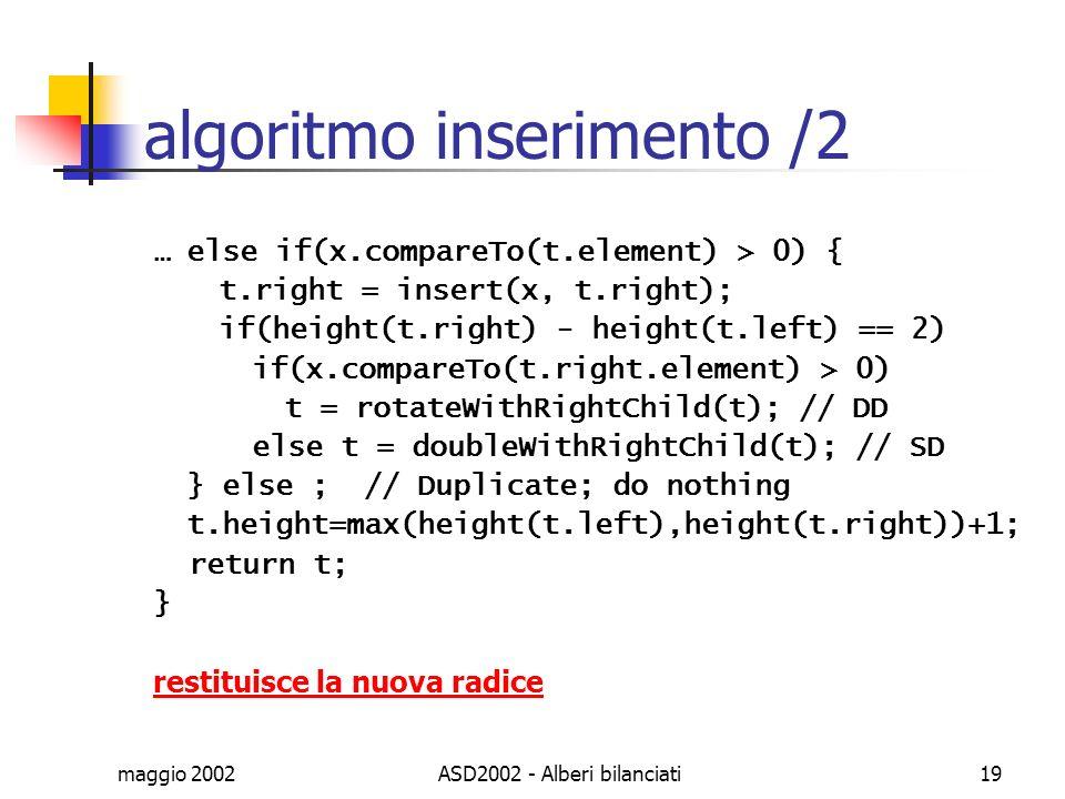 algoritmo inserimento /2