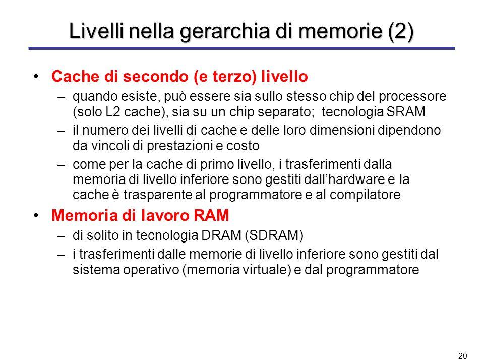Livelli nella gerarchia di memorie (2)