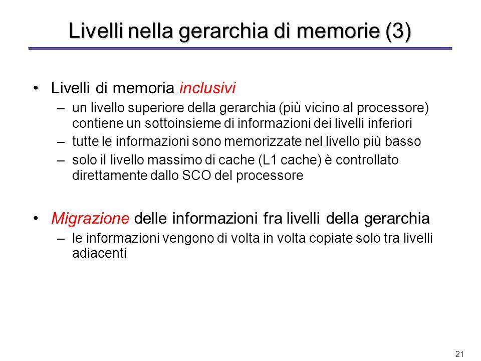 Livelli nella gerarchia di memorie (3)