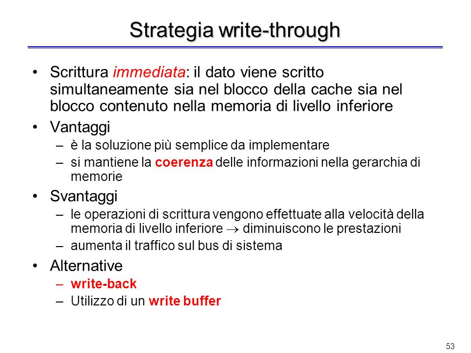 Strategia write-through
