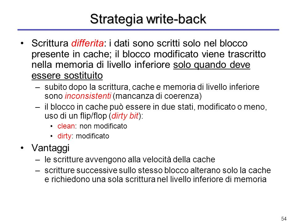 Strategia write-back