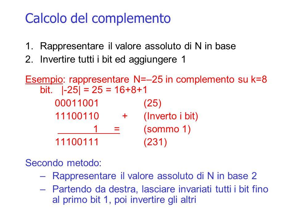 Calcolo del complemento