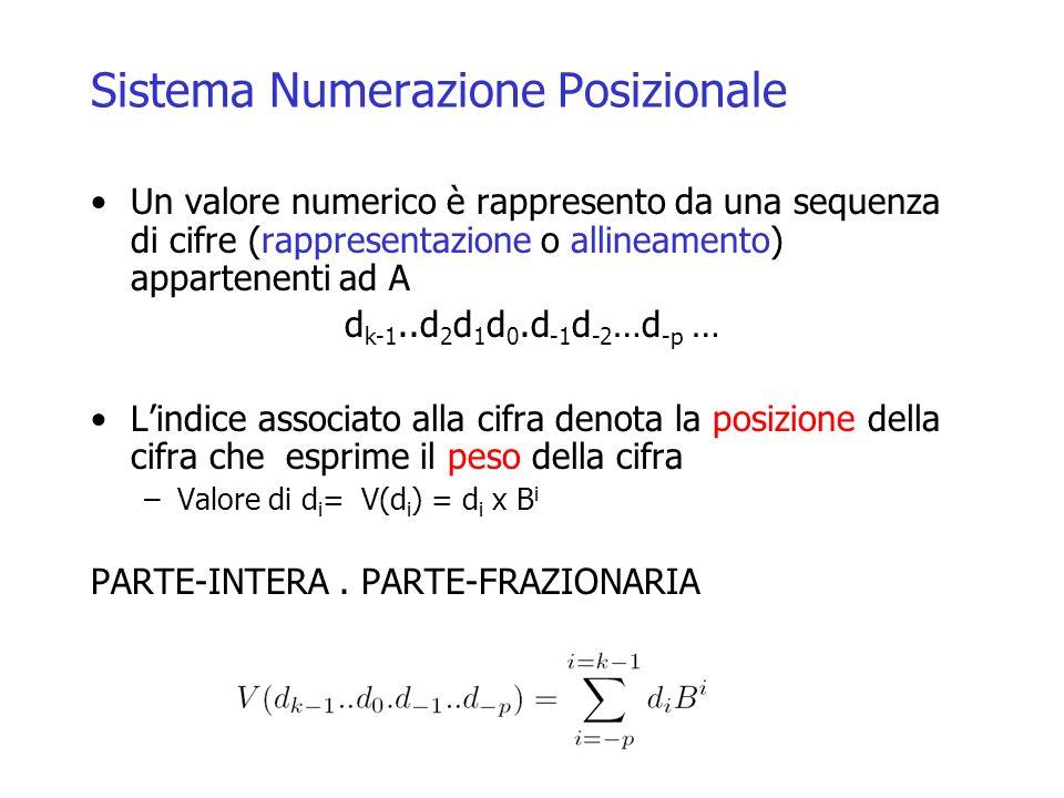 Sistema Numerazione Posizionale