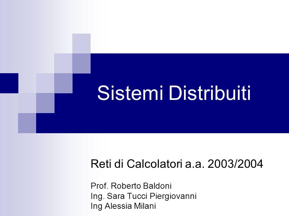 Sistemi Distribuiti Reti di Calcolatori a.a. 2003/2004