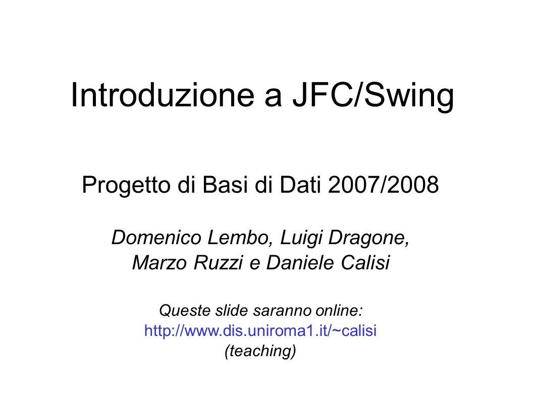 Introduzione a JFC/Swing
