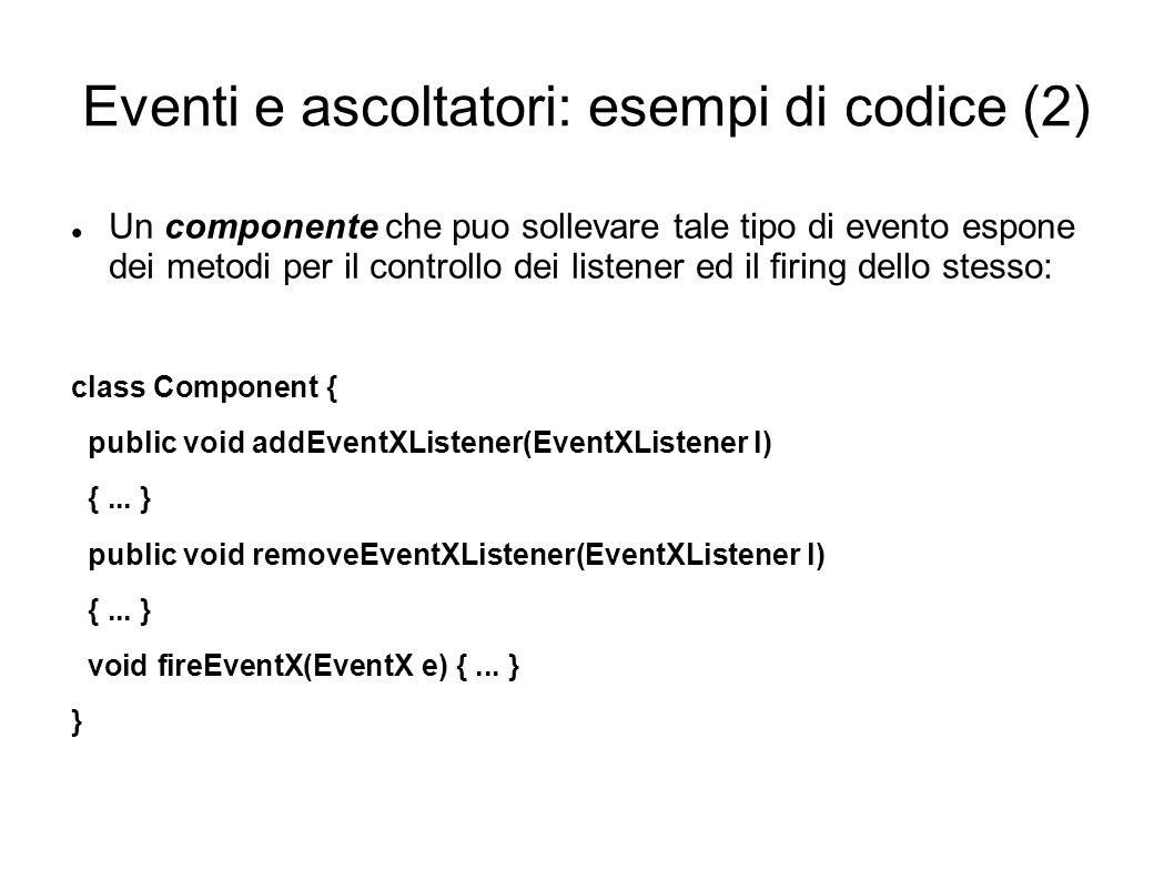 Eventi e ascoltatori: esempi di codice (2)