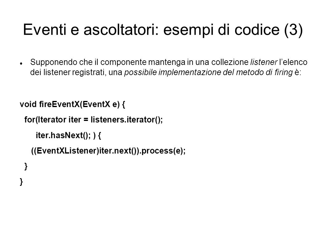Eventi e ascoltatori: esempi di codice (3)